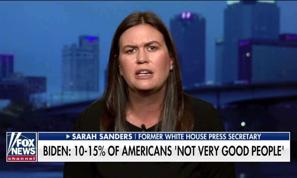 Positive news Sarah Sanders hits back at Biden: He shows every day that he's not the person to unite America